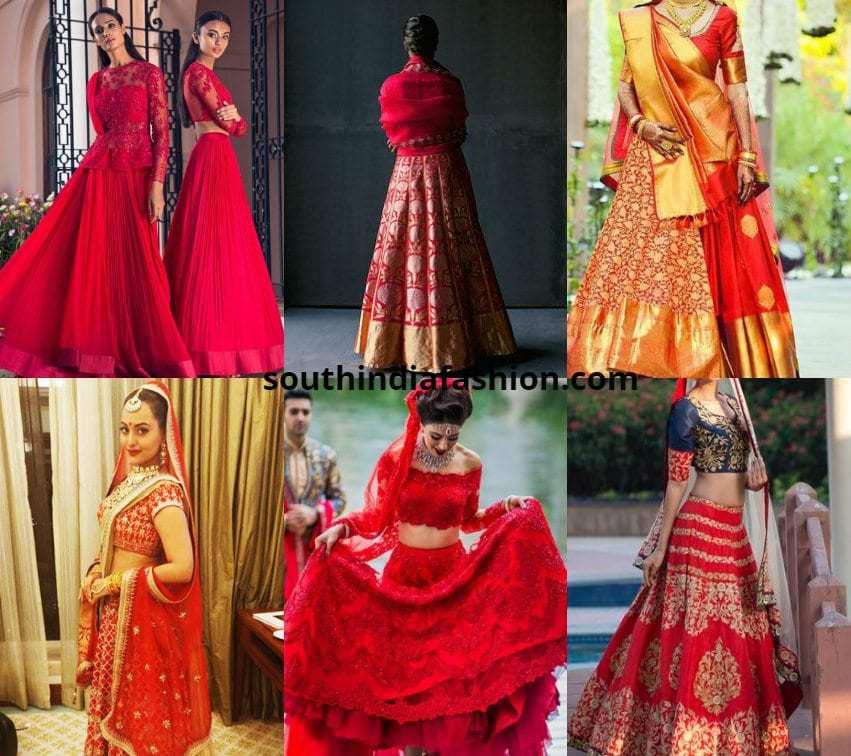 Red Lehenga Designs