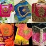 32 Exotic Sheer Back Blouses For Pattu Sarees
