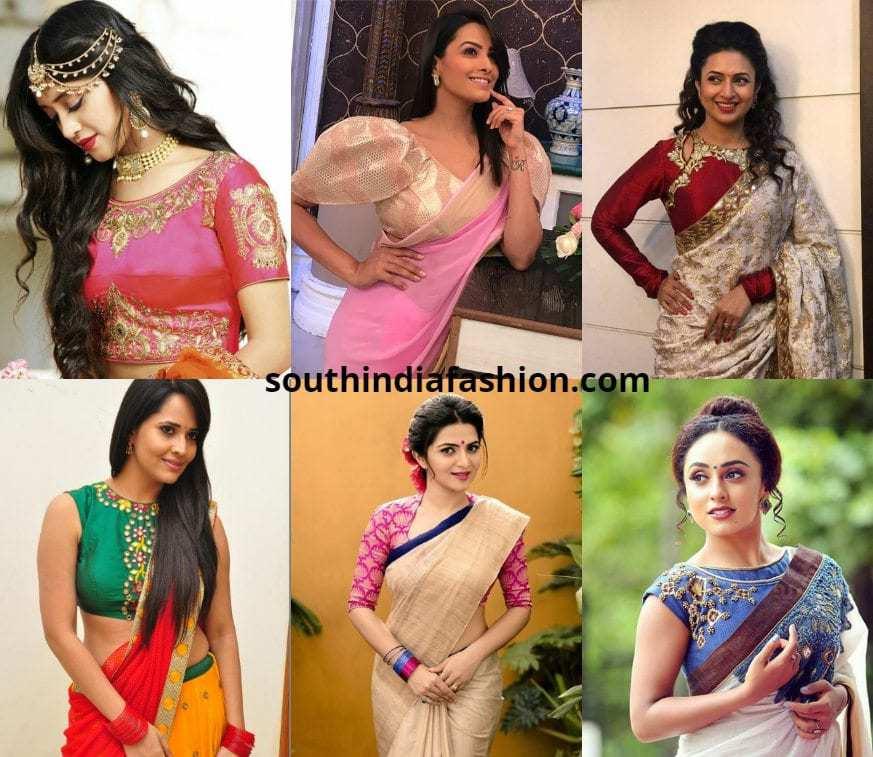 serial actresses saree blouse