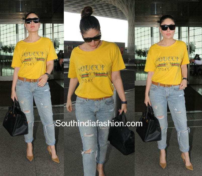 Kareena Kapoor in Gucci at the airport
