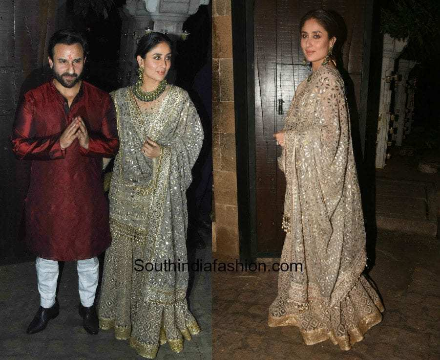 Kareena Kapoor in Tarun Tahiliani and Saif Ali Khan in Raghavendra Rathore