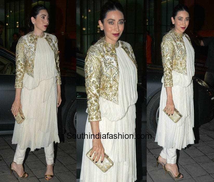 Karishma Kapoor in Varun Bahl at Arpita Khan's diwali bash