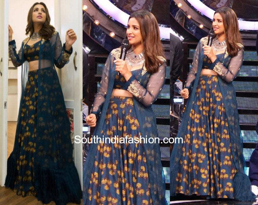 Parineeti Chopra in Anoli Shah lehenga on the sets of Big Boss 11 for Golmaal 4 launch