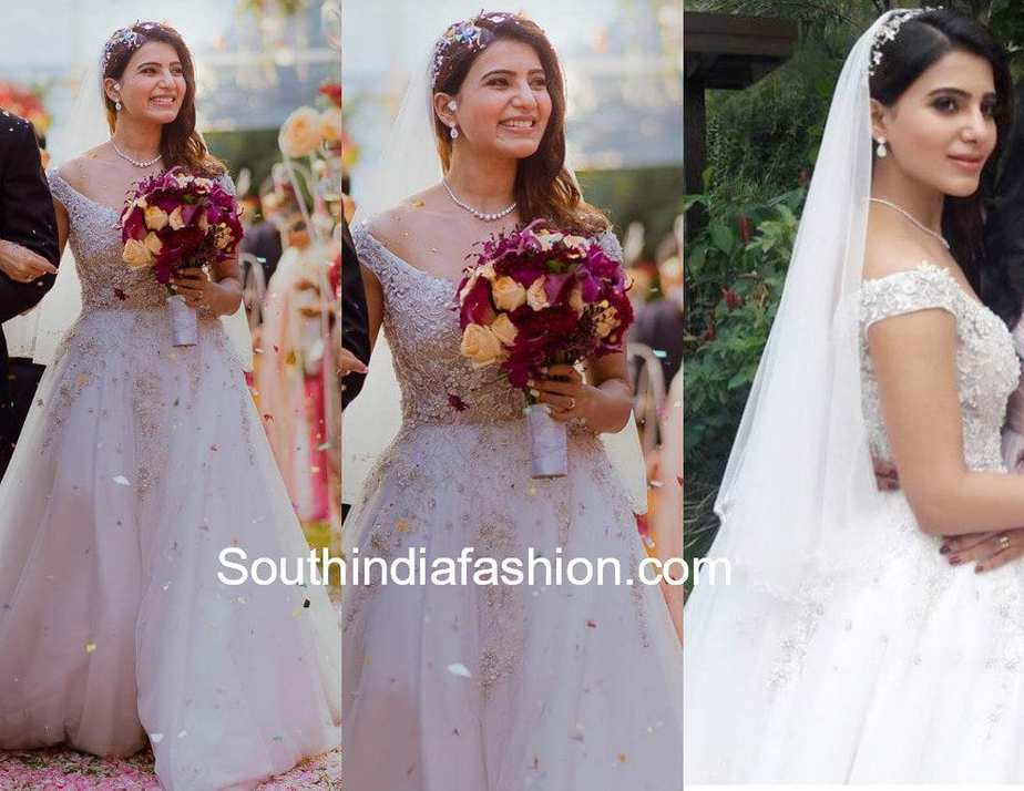 samantha akkineni wedding gown