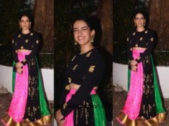 Sanya Malhotra in House Of Masaba at Aamir Khan's Diwali Party