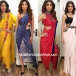 5 Inspiring Saree Styles By Shilpa Shetty