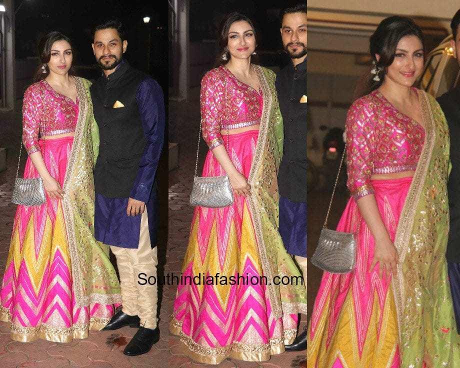 Soha Ali Khan in Aditi Somani for Diwali