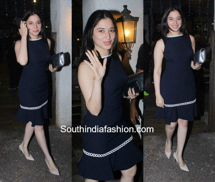 Tamanna Bhatia in a dress spotted outside a salon