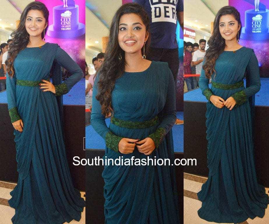 anupama parameswaran green gown archita narayanam