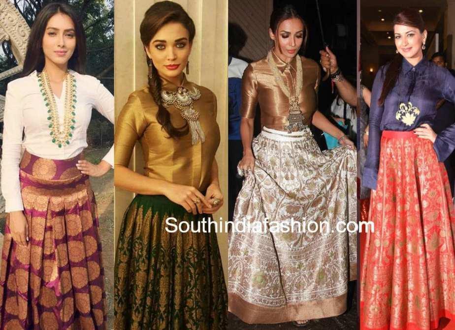 1 Banarasi Skirt 5 Stylish Looks