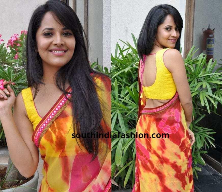 Anasuya Bharadwaj Saree blouses