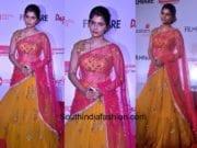 chinmayi in mrunaini rao lehnega at marathi filmfare awards 2017