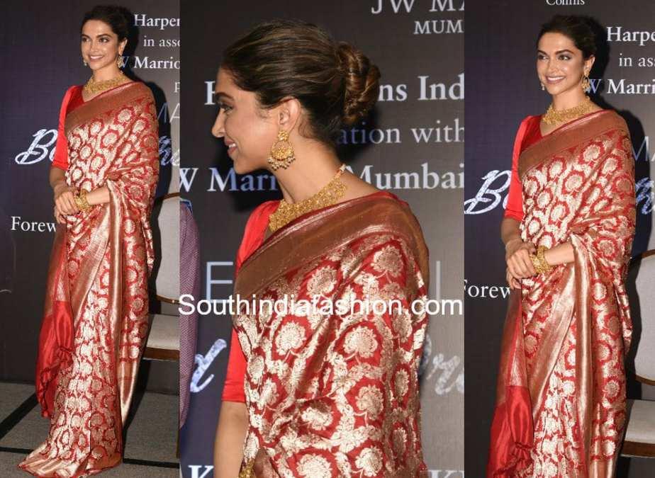 Deepika Padukone In Raw Mango South India Fashion