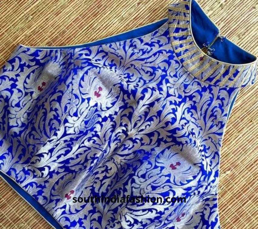 blue halter fancy blouse