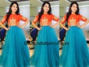 hari teja sony reddy long gown