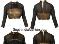 high neck blouse designs