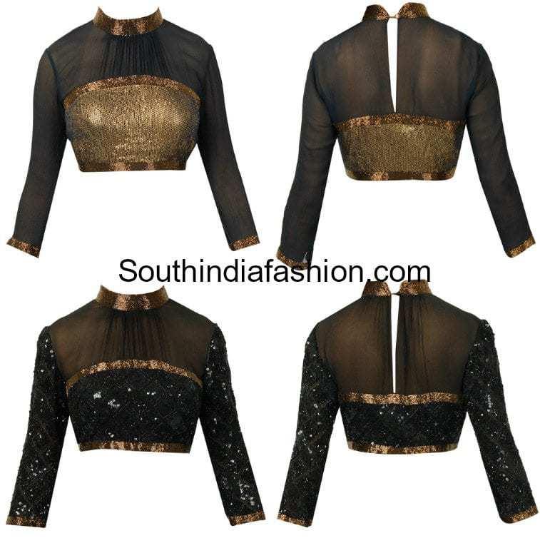 high neck blouse designs