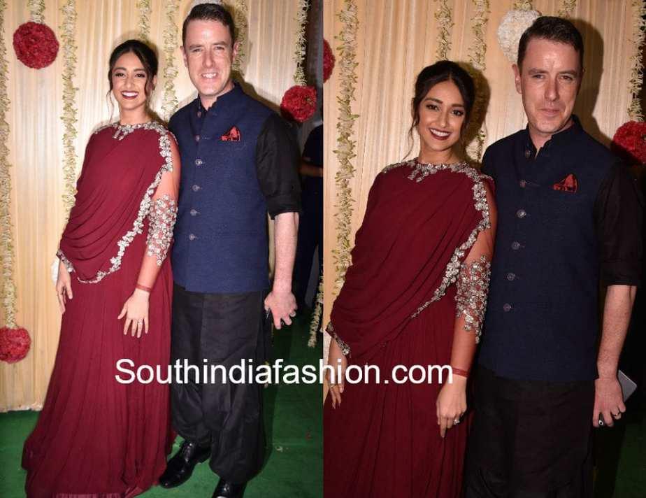 ileana with boyfriend diwali party