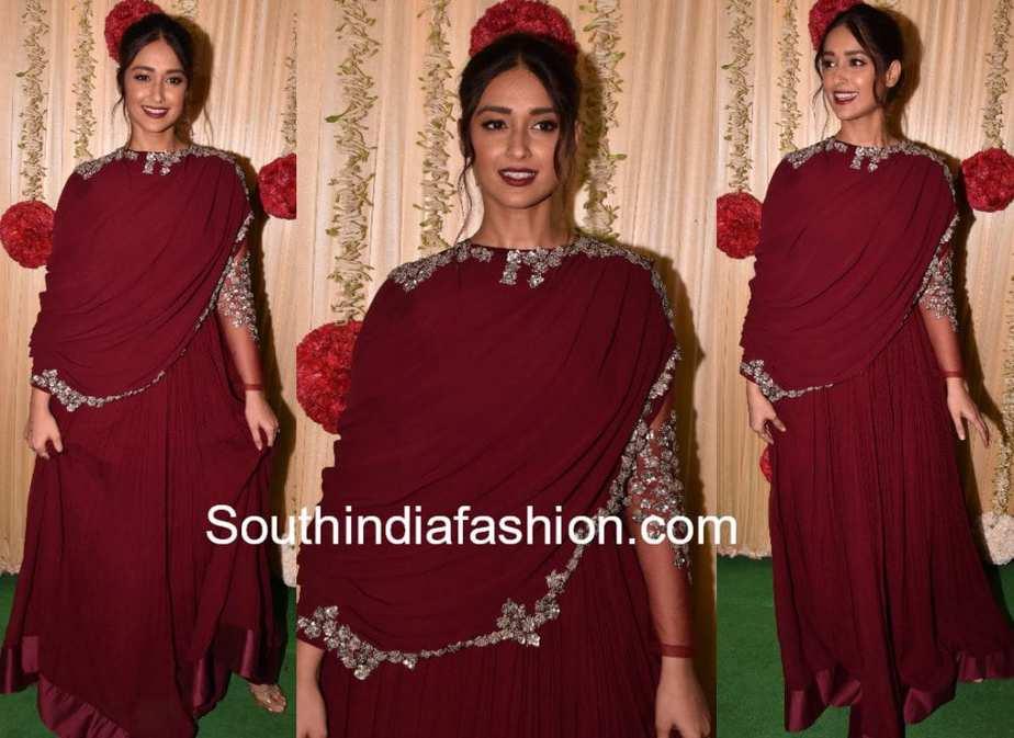 ileana in ridhi mehra gown at ekta kapoor diwali party 2017