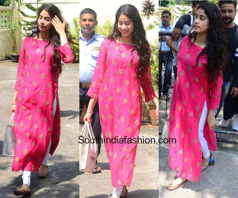 Jhanvi Kapoor S Ethnic Look South India Fashion
