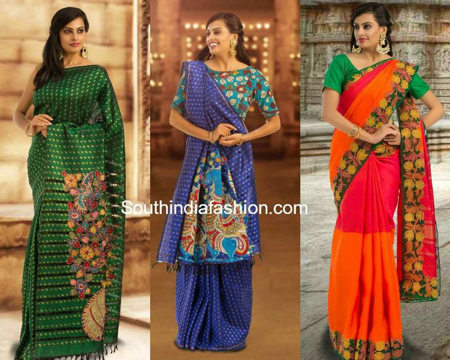 kalamkari patchwork sarees