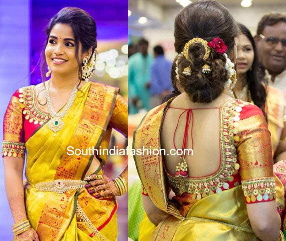 10 interesting back neck designs for pattu saree blouses