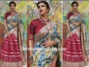 lakshmi manchu in bhargavi kunam half saree for viranica manchu baby shower