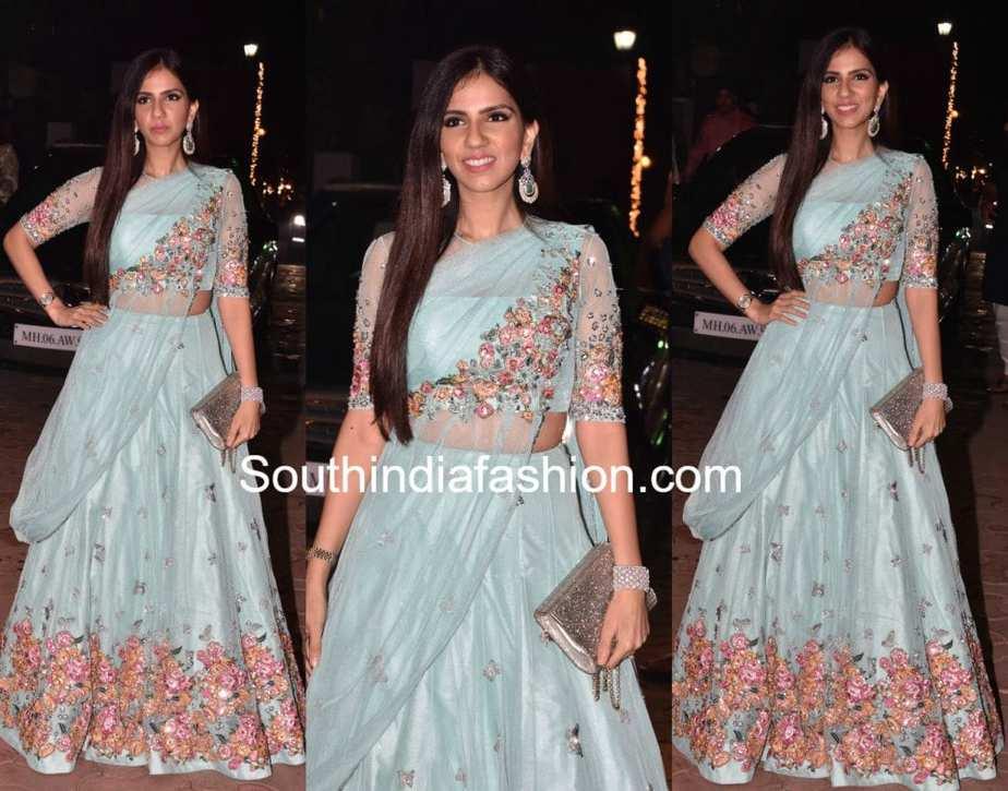 Nishka Lulla in Neeta Lulla –South India Fashion