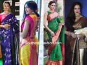 best pattu saree color combinations