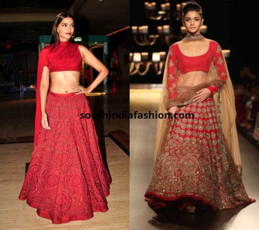 Celebrity Inspiration Red Lehenga