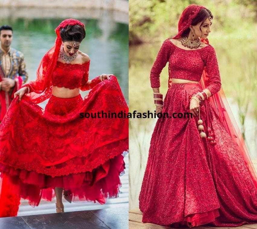 Lace Red Lehenga