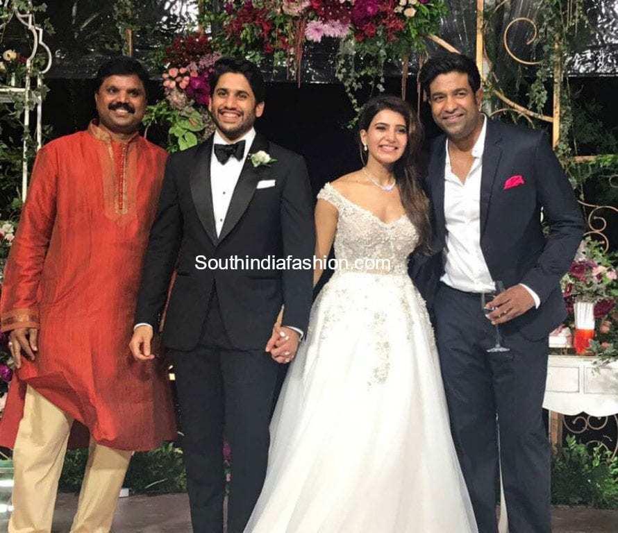 samantha and Naga Chaitanya's Christian wedding photos