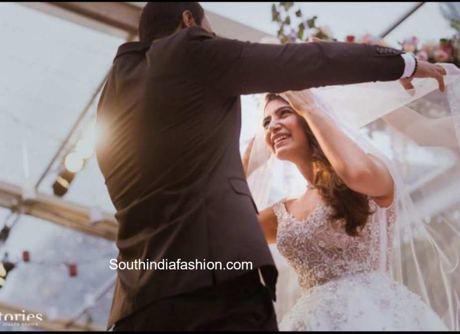 samantha christian wedding pics