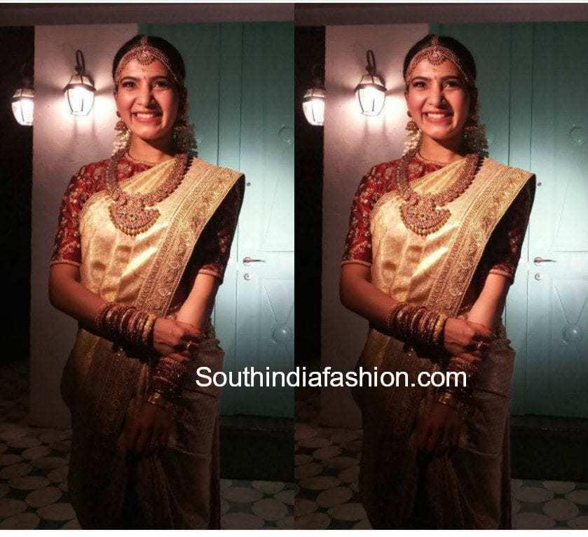 samantha prabhu wedding saree sabyasachi