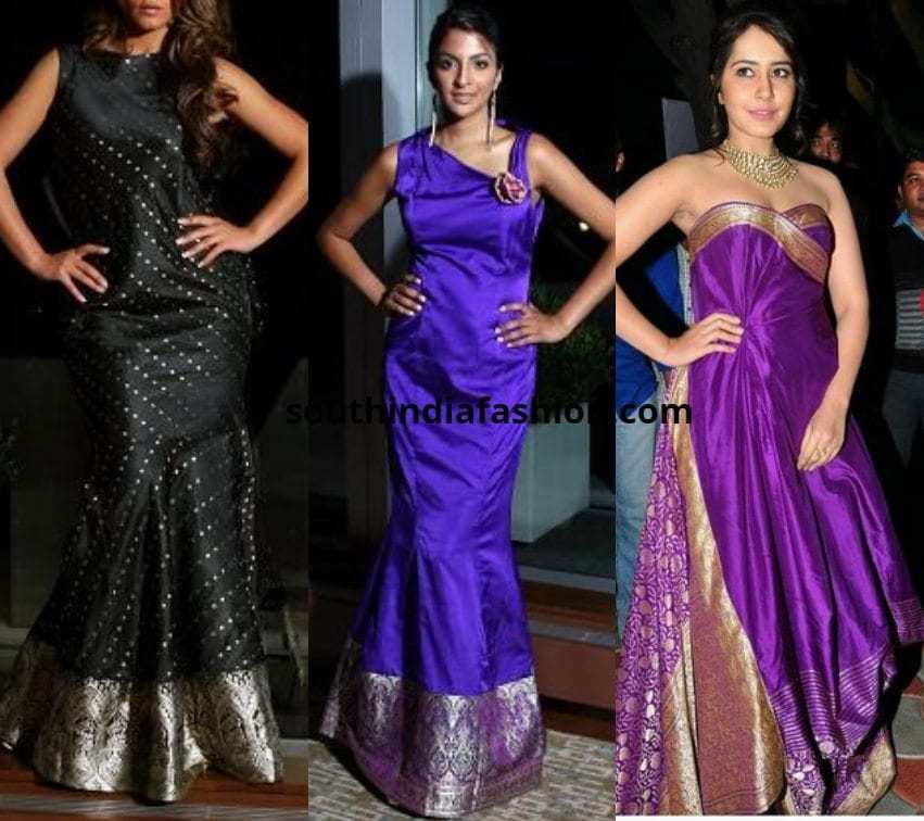 Bodycon Saree Dresses