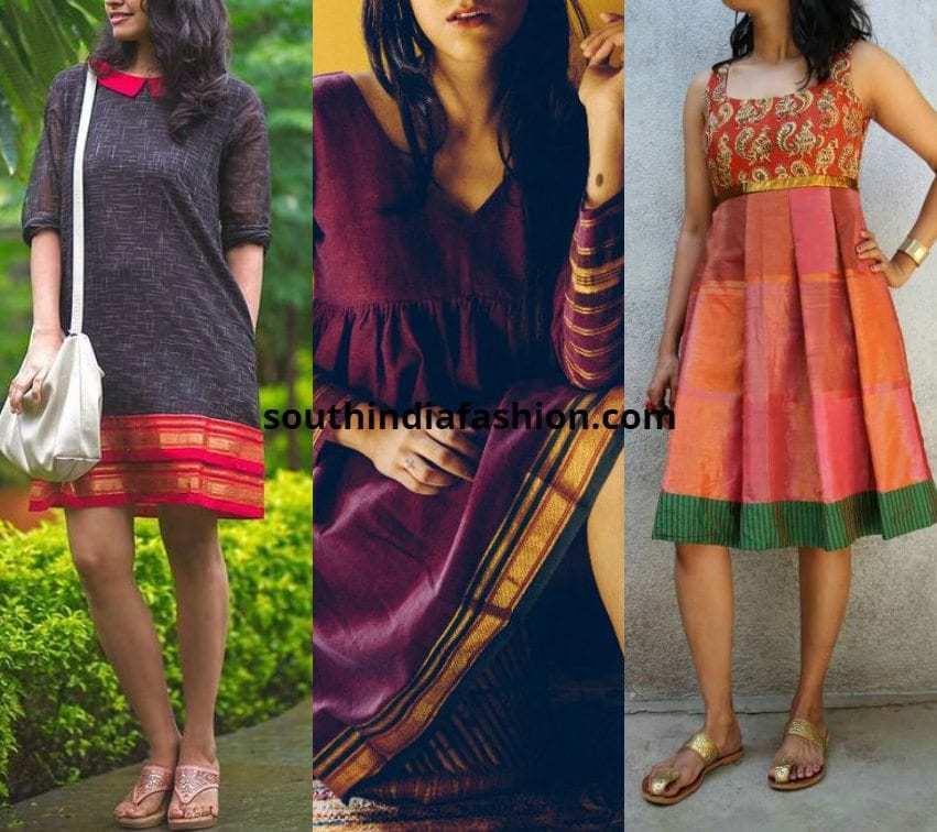 Collar Saree Dresses