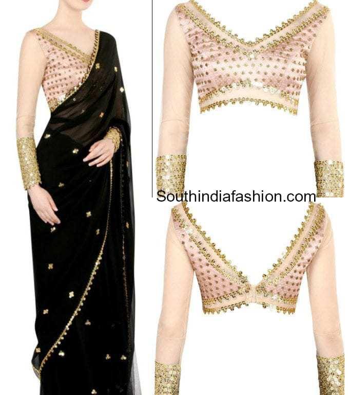 stylish saree blouse designs
