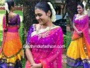 shalini pandey golden threads lehenga