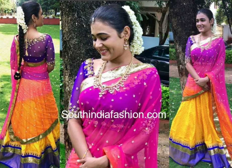 shalini pandey golden threads lehenga