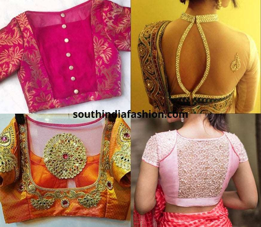 Sheer Back Blouses For Bridal Sarees
