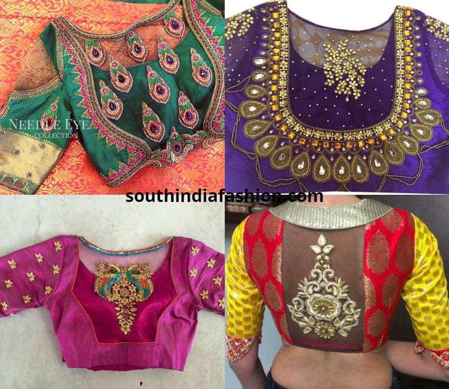 Sheer Back Blouses For Kanjeevaram Sarees
