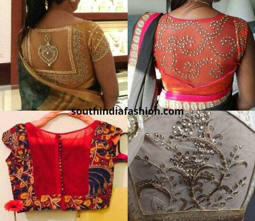 Sheer Back Blouses For Pattu Sarees
