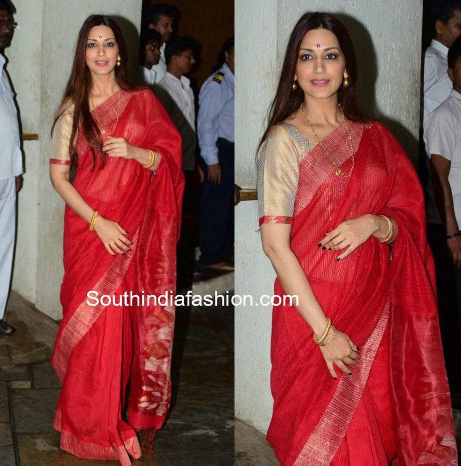 bollywood actress sarees 2017
