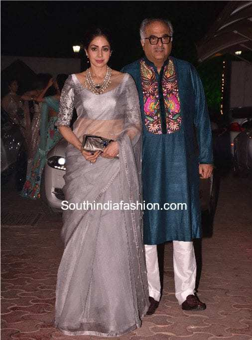 Sridevi kapoor and boney kapoor at shilpa shetty diwali party 2017