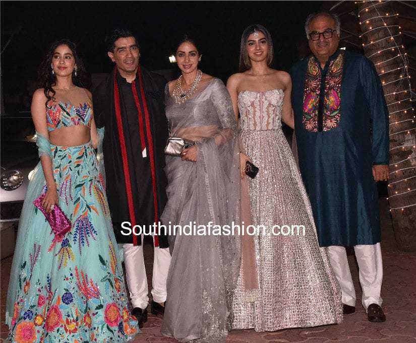 sridevi kapoor family at shilpa shetty and aamir khan diwali party 2017