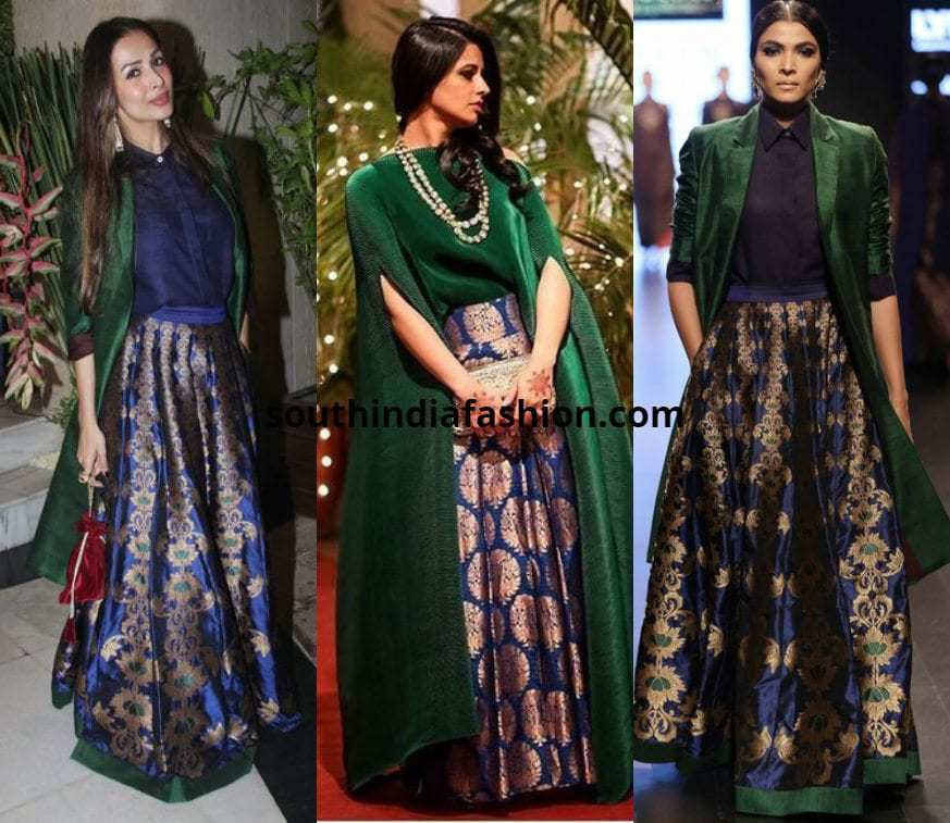 Banarasi Skirt With A Cape/ Jacket