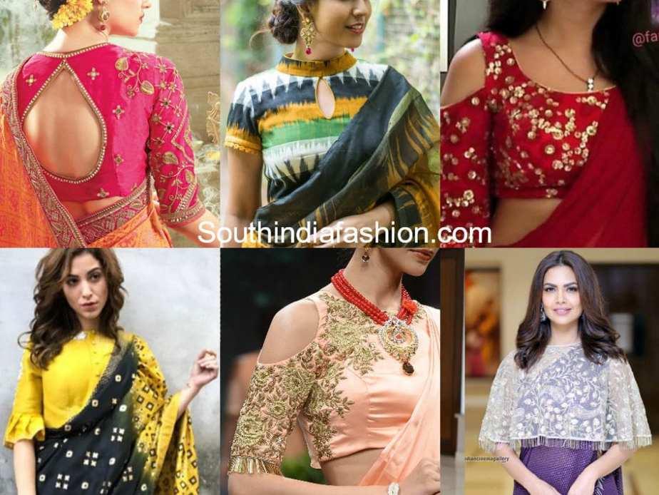 trendy saree blouse designs 2017