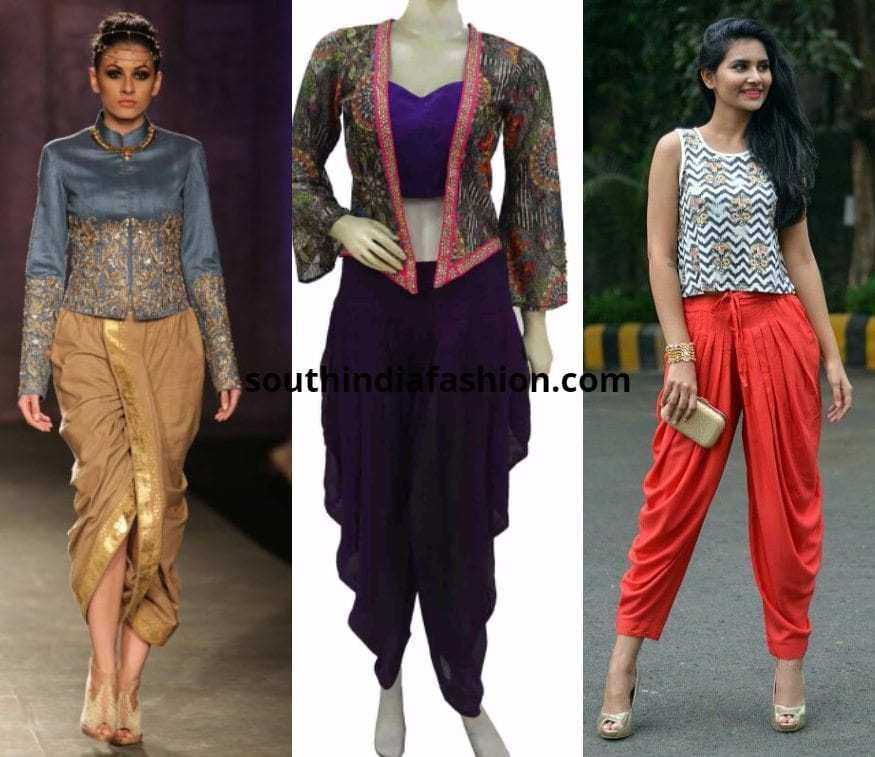 Dhoti Pants with crop jacket