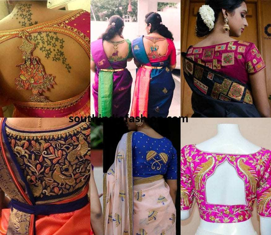 back embroidered blouses