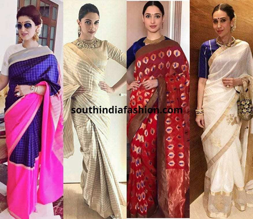 aef47031b2655 10 Beautiful Raw Mango Sarees Rocked By Our Favorite Celebs